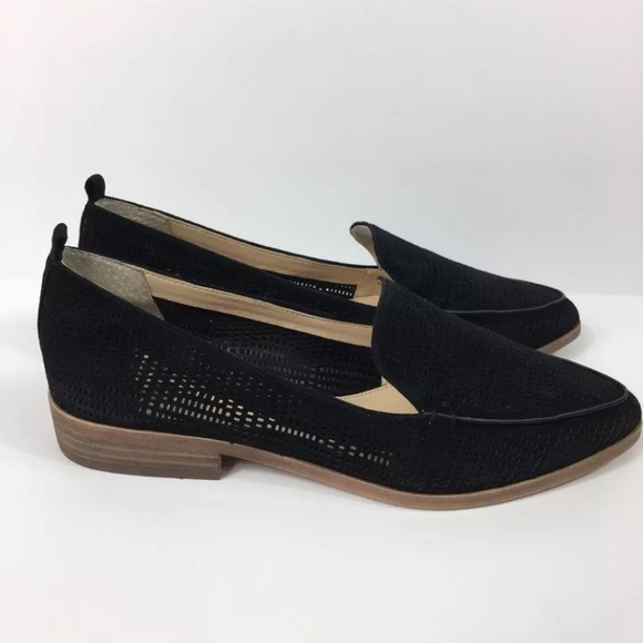 08bb3f1a1c8 Vince Camuto Black Kade Perforated Loafers Sz 7.5M.  M 5a357ce8d39ca254cc0191c5